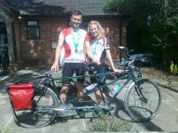 Sam & Jenni from Oxford after 100km Between The Parks 2017
