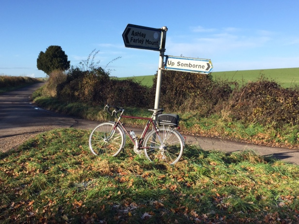 Jim's vintage bike at bottom of Ashley Hill 25.11.17