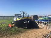 Boat outside Salt Cafe, Porchester