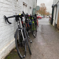 Bikes at rest in Alresford